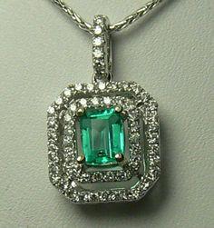 0.84tcw Striking Colombian Emerald & Diamond by JRColombianEmeralds, $1350.00