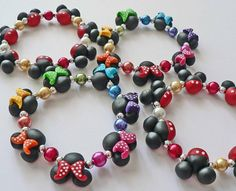 Mickey Mouse Minnie Mouse Jewelry Bracelet ...JLC...needs to more accurate and high gloss heads...maybe Swarovski in bows