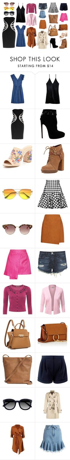 """Female Trendy Collection's"" by sanyanaputra on Polyvore featuring Sea, New York, Fleur du Mal, Leka, Alaïa, ALDO, BCBGeneration, Dolce&Gabbana, GUESS, MSGM and Maiyet"