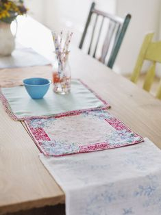 Vintage Handkerchief Table Runner