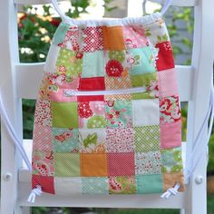Quilted Knapsack - PDF Pattern by Pleasant Home #sewing #quilting