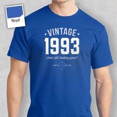 Men's Birthday T Shirt Gift - Vintage Wine Bottle 20th Birthday Presents, 65th Birthday Gift, Birthday Shirts, Happy Birthday, Love T Shirt, Shirt Style, T Shorts, Vintage, Ideas