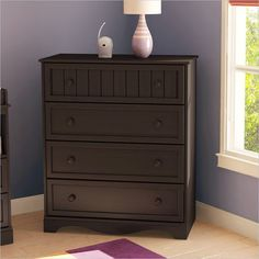 South Shore Handover 4 Drawer Chest Espresso Finish Baby Dresser
