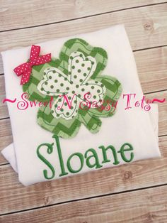 Girly Shamrock Shabby St. Patrick's Day Design by SweetNSassyTots