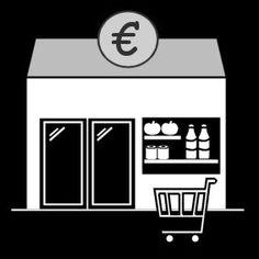 Pictogram Supermarkt