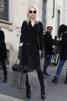#MelissaTammerijn studded blackout. rock on girl. #offduty