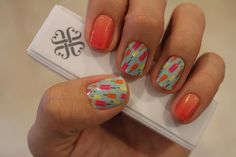 Jamberry nail wraps in May 2014 Host Exclusive and Sunset Ombre