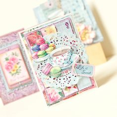 Life is Sweet! Gorgeous card design made from the Scrapberry's Time for Tea Collection! Shop now: http://www.createandcraft.tv/pp/scrapberrys-papercraft-collection---time-for-tea-341615?fh_location=//CreateAndCraft/en_GB/$s=scrapberrys #papercraft #cardmaking
