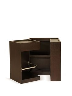SANJAY SIDE STORAGE - Gilt Home.  Perfect man-cave side table.  Next to a light leather sofa....