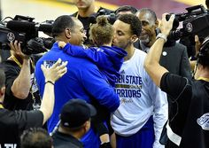 Riley Curry, likely the biggest star to emerge from the NBA playoffs, received a big victory kiss from her dad, Stephen Curry, after the Golden State Warriors' big Game 4 win of the NBA Finals against the Cleveland Cavaliers. His daughter became a sensation after an adorable press conference sit-in, among many other cute moments.