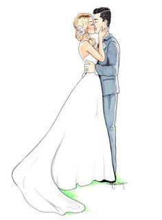 Custom Wedding Illustration Custom Wedding by MClarkIllustration