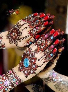 Colourful mehendi.