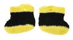 Baby Firefighter Crochet Booties