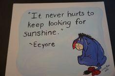 Eeyore hand painted canvas Winnie the Pooh by MoonbeamsBearDreams
