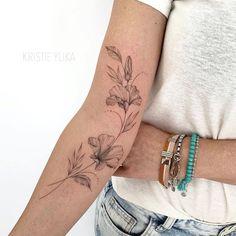 Arm Tattoos For Women Forearm, Inner Elbow Tattoos, Outer Forearm Tattoo, Tattoos For Women Small, Classy Tattoos For Women, Inner Forearm, Unique Wrist Tattoos, Forearm Flower Tattoo, Tattoos For Women Flowers