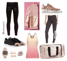 Casual Rose - Street to Gym by miamomia on Polyvore featuring polyvore fashion style adidas Originals Ted Baker adidas Michael Kors clothing