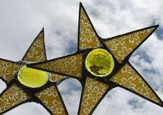 Calendula Star  65 inch lacquered glass star by KurtKnudsen, $23.00