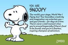 I took Zimbio's 'Peanuts' quiz, and I'm Snoopy! Who are you?null - Quiz
