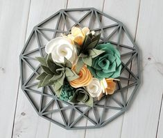 Succulent Garden Geometric Wall Decor Himmeli Inspired