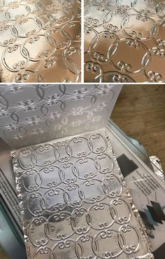 How to Emboss Aluminum Foil! - The Graphics Fairy Card Making Tips, Card Making Tutorials, Card Making Techniques, Making Ideas, Aluminum Foil Crafts, Craft Foil, Embossing Techniques, Embossed Cards, Scrapbooking