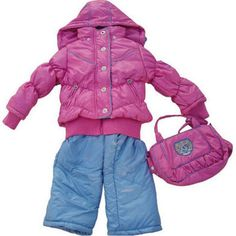 infant girl outerwear pink-blue