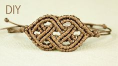 How to Make Macrame Bracelet in Celtic style. Looks a bit complicated, it's probably not for beginners, but I hope that it will be useful :) See more macrame...