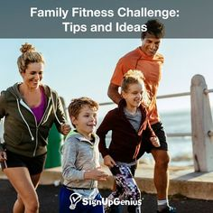 Family Fitness Challenge: Tips and Ideas to start the year healthy and get kids and family members moving.