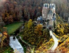 Eltz Castle, Germany a family compound. Three different lines  of the original family inhabit this. They each have their own section one is open to the public. Google Search