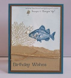 Laurie's Stampin' Spot: By the Tide Masculine Birthday Card. :))