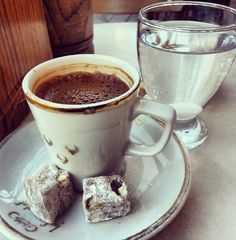 Turkish, coffee...via filiz çelik……..TAKE A CLOSE LOOK  -  YOU CAN TELL IT'S FRESH - IT'S ROBUSTLY STRONG ---- THEY REALLY KNOW HOW TO GET YOU GOING IN TURKEY………..ccp