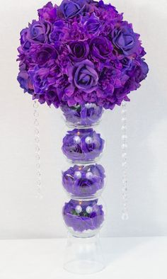 Diy wedding centerpieces 556827941427524931 - DIY Purple Passion Wedding Centerpiece in 3 Easy Steps Source by Purple Wedding Centerpieces, Unique Centerpieces, Wedding Flower Arrangements, Flower Centerpieces, Wedding Decorations, Centerpiece Ideas, Quinceanera Centerpieces, Quinceanera Party, Table Arrangements