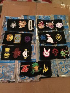 Booster Pack Badge Patches Blizzcon 2017 Overwatch Diablo Hearthstone Wow