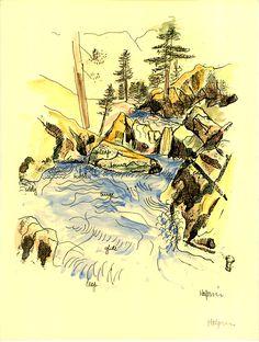 Halprin's Notebook: Page 5 Landscape Architecture, Landscape Design, Lawrence Halprin, Sea Ranch, Portland, Vintage World Maps, Sketches, Sketchbooks, Drawings