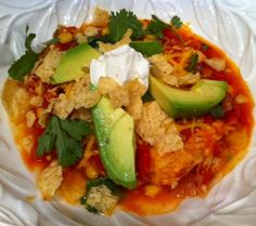 Chicken Tortilla Soup ~ aka Awesome Chicken Tortilla soup.  Well then, lets give it a try!