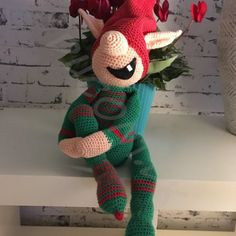 Alfen Elliot – By Ducont Christmas Gnome, Christmas Crafts, Christmas Decorations, Knitting Patterns, Crochet Patterns, Christmas Preparation, Crochet Decoration, Bear Toy, Crochet Animals