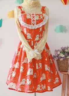 Sweet Fairytale Printed Cotton Lolita Dress $49.99-Cotton Lolita Dresses - My Lolita Dress