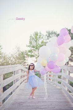 Little Girl Balloon Portrait (Pretty Geeky Photography)