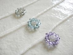 """White and Puprle Blue Bubble Crystal Pendant Delicate Necklace   Length - 40cm (around 15.7"""")   $10.00 USD"""