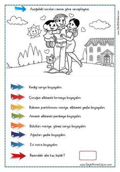 OKUDUĞUNU ANLAMA – Oku – Boya Çalışması 2 pdf formatında özgün bir çalışma olarak hazırlanmıştır. Aşağıda bulunan linkten kolayca indirebilirsiniz. Tüm çalışmalarımızı kendi emeklerimizle özgün.. Writing Activities, Activities For Kids, Learn Turkish, Turkish Language, Reading Passages, Pre School, Kids And Parenting, Kids Learning, Coloring Books