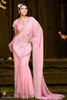 Pink Saree.