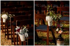 Flower Pail Aisle Decor