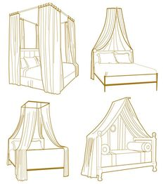 """10 Ways to get the Canopy Look without Buying a New Bed"" For next school year in the townhouse"