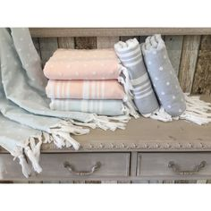 Authentic Anatolia Stripes and s Terry Pestemal Fouta Bath and Beach Towel