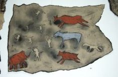 Stone Age: Activities: Make Cave Paintings For FA Final; have them create a cave painting, write a story for their painting, and have them act it out? Prehistoric Age, Stone Age Art, Cave Drawings, Painting Activities, History Activities, We Will Rock You, Cave Painting, Iron Age, Teaching Art