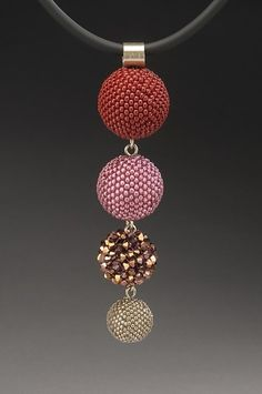 Libby Necklace - Crocheted Beaded Beads by Lynne Sausele