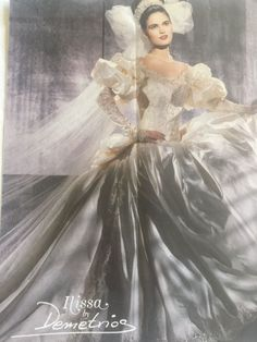 Wedding Gown Ilissa by Demetrios ivory, long sleeve, small w/ veil Antique Wedding Dresses, Vintage Gowns, Vintage Bridal, Vintage Weddings, Wedding Dress With Veil, Beautiful Wedding Gowns, Best Wedding Dresses, Bride Dresses, Retro