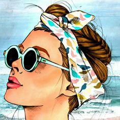 New pop art disegni Ideas Comic Kunst, Cartoon Kunst, Cartoon Art, Comic Art, Art And Illustration, Illustrations, Fashion Illustration Face, Arte Fashion, Pop Art Fashion