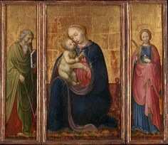 Madonna and Child with Saints Philip and Agnes - Artist: Donato de' Bardi (Italian, Lombard, active by 1426–died 1450/51) Date: ca. 1425–30 Medium: Tempera on wood, gold ground
