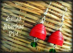 DIY Arts &  Crafts : DIY Quilling Paper Jhumkas