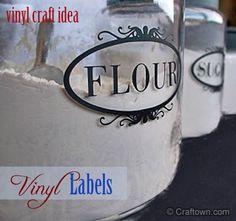 Free Craft Idea - Vinyl Labels. Make your own vinyl pantry labels! #craftown #vinyl